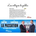 Critique La Passation